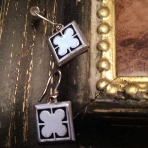 4 LEAF CLOVER VINTAGE EARRINGS